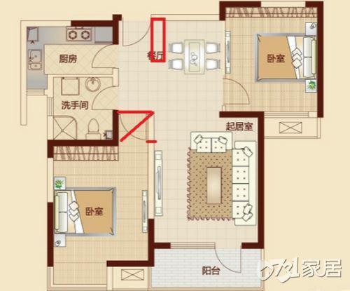 大门对卧室门怎么办?家居风水穿堂风的化解方法