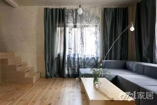 不刷油漆的原木地板装饰 壕气自然更接地气