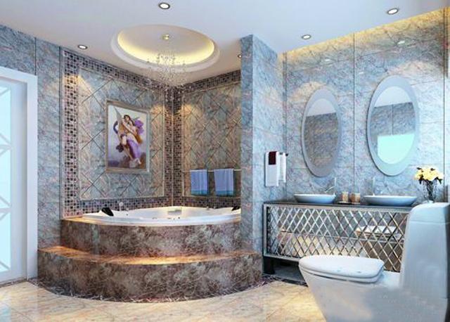 如此豪华的浴室装修 静夜畅享满室辉光