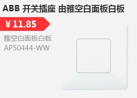ABB 开关插座 由雅空白面板白板AP50444-WW
