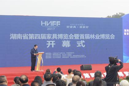 湖南省第四届家具博览会暨首届林业博览会盛大开幕